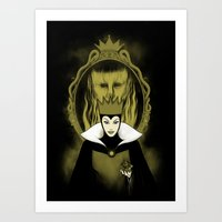 evil queen Art Prints featuring Evil Queen by pigboom el crapo