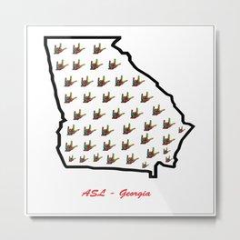 ASL - Georgia Metal Print