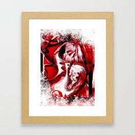 Heart shape bleeding Framed Art Print