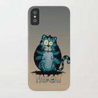fat iPhone & iPod Cases featuring Fat Cat by mangulica