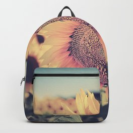 """""""Sunflowers"""" Vintage dreams. Square Backpack"""