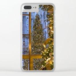 Beautifu christmas tree Clear iPhone Case