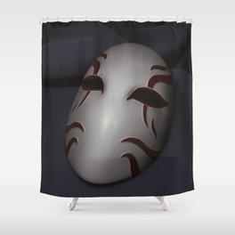 Kabuki Mask Shower Curtain