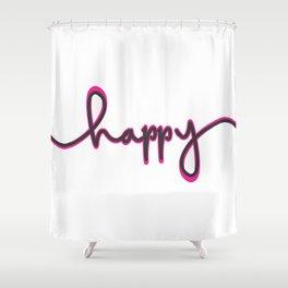 Happ-y2 Shower Curtain