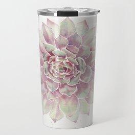 Big Succulent Watercolor Travel Mug