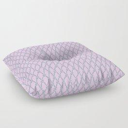 Fishing Net Grey on Blush Floor Pillow