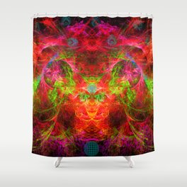 The Flying Shaman Shower Curtain