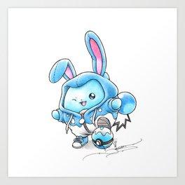 A Bubbly Personality Art Print