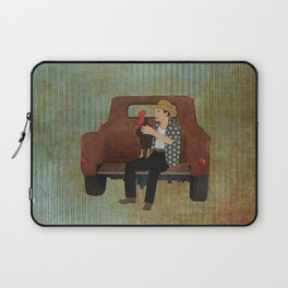 Rooster man and his pick up truck Laptop Sleeve