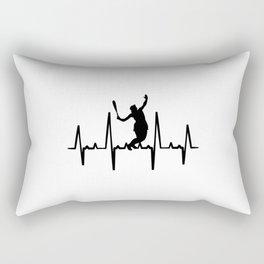 Tennis Heartbeat T Shirt Tennis Player TShirt Tennis Tournament Shirt Heart Beat Gift Idea Rectangular Pillow