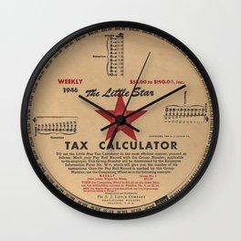 The Little Star Tax Calculator, 1946 Wall Clock