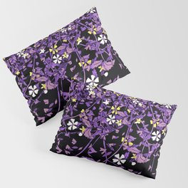 Nonbinary Pride Scattered Falling Flowers and Leaves Pillow Sham