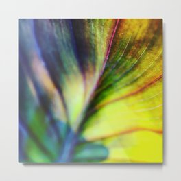 Leafy Beauty #leaf #colorful #abstract Metal Print