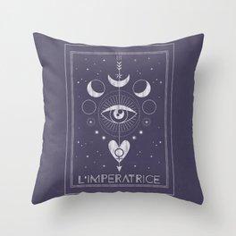 L'Imperatrice or L'Empress Tarot Throw Pillow
