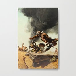 Frank McCarthy painting for Once Upon a Time in the West Metal Print