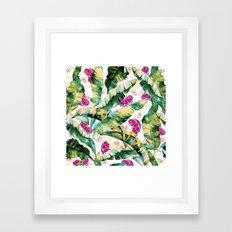Banana leaf & Pomegranate II Framed Art Print