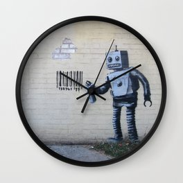 Banksy Robot (Coney Island, NYC) Wall Clock