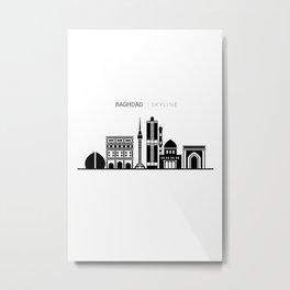 Baghdad Skyline Travel Metal Print