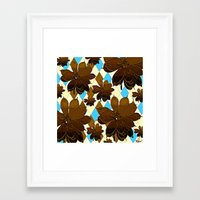 magnolia Framed Art Prints featuring Magnolia  by Saundra Myles
