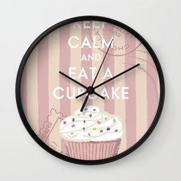 Keep Calm and Eat A Cupcake Wall Clock