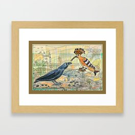 The Crow and the Hoopoe Framed Art Print
