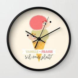 Vanille-fraise Wall Clock