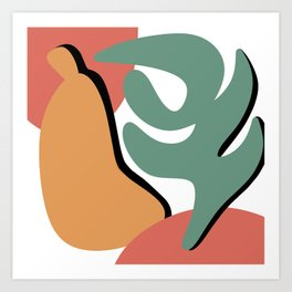 Pear & Leaf Art Print