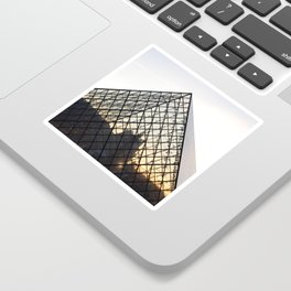 Abstract Louvre Pyramid Sticker