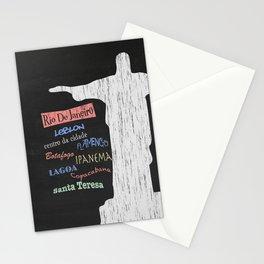 Rio De Janeiro Tourism Poster Stationery Cards