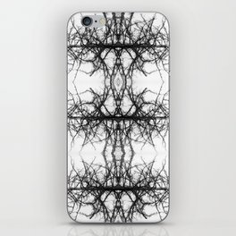 Black and white tree iPhone Skin