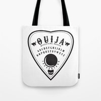 ouija Tote Bags featuring OUIJA PLANCHETTE by ANOMIC DESIGNS