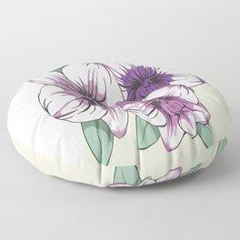 Orchids Flowers Orchid Plant Floor Pillow