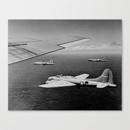 B-17F Flying Fortress Bombers over the Southwest Pacific Canvas Print