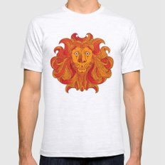 Lion Mens Fitted Tee SMALL Ash Grey