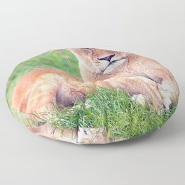 Lounging Lioness Floor Pillow