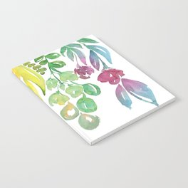 """Colorful ombre watercolor bouquet, """"Lindsay"""" Notebook"""