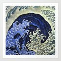 Hokusai Feminine Wave Japanese Vintage Fine Art by artgallery