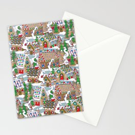 Gingerbread Village Stationery Cards
