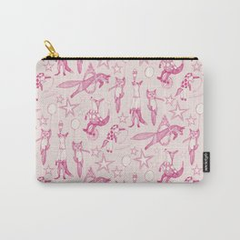 foxy circus pink ivory Carry-All Pouch