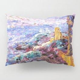 Blue Mood Nautical Seacoast landscape painting by Emil Nolde Pillow Sham