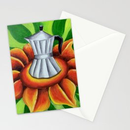 Coffe maker (Cuban cafetera). Miguez art Stationery Cards