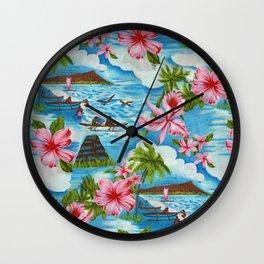 Hawaiian Scenes Wall Clock