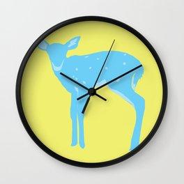 A deer - A Very Blue Deer Wall Clock