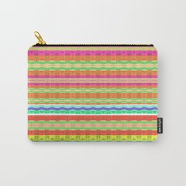 Retro Tribal Dancing Warm Lines Carry-All Pouch