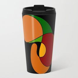 Earth tone abstract Travel Mug