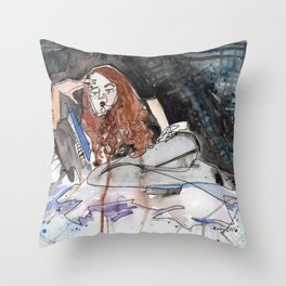 Sadist in Stockings Throw Pillow
