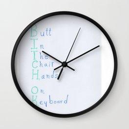 Bitch, OK Wall Clock