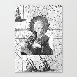 Vierge à l'oiseau Canvas Print