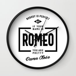 Romeo Personalized Name Birthday Gift Wall Clock