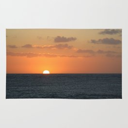 Sunset at Great Barrier Reef Rug